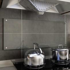 Spatscherm keuken 100x40 cm gehard glas transparant