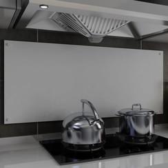 Spatscherm keuken 120x50 cm gehard glas wit