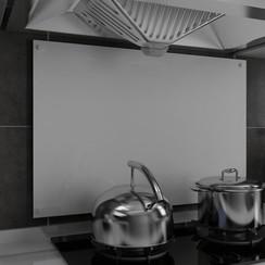 Spatscherm keuken 90x60 cm gehard glas wit