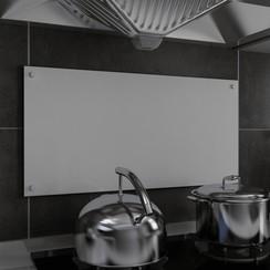 Spatscherm keuken 80x40 cm gehard glas wit