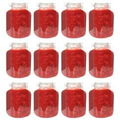 Jampotten met sluiting 12 st 5 L glas