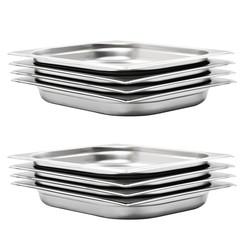 Gastronormbakken 8 st GN 1/2 40 mm roestvrij staal