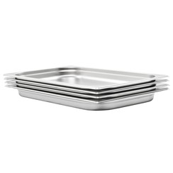 Gastronormbakken 4 st GN 1/1 40 mm roestvrij staal