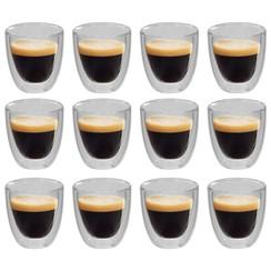 Thermoglazen voor espresso dubbelwandig 12 st 80 ml