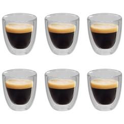 Thermoglazen voor espresso dubbelwandig 6 st 80 ml