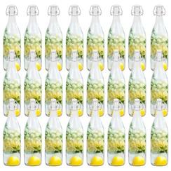 Flessen met beugelsluiting 24 st 1 L glas