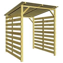 Tuinschuur voor brandhout geïmpregneerd grenenhout