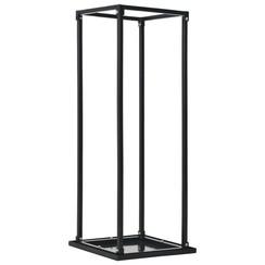 Haardhoutrek met basis 37x37x113 cm staal zwart
