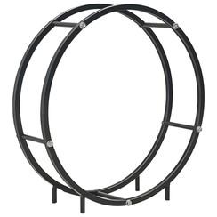 Haardhoutrek 70x20x70 cm staal zwart