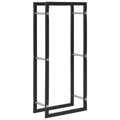 Haardhoutrek 44x20x100 cm staal zwart
