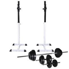 Halter-/squatrek met halterset 30,5 kg