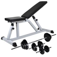 Trainingsbank met halterset 30,5 kg