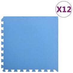 Vloermatten 12 st 4,32 ㎡ EVA-schuim blauw