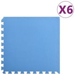 Vloermatten 6 st 2,16 ㎡ EVA-schuim blauw