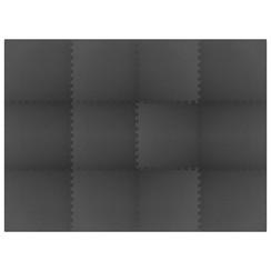 Vloermatten 12 st 4,32 ㎡ EVA-schuim zwart