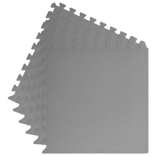 vidaXL Vloermatten 6 st 2,16 ㎡ EVA-schuim zwart