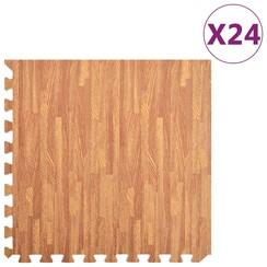 Vloermatten 24 st 8,64 ㎡ EVA-schuim houtnerfprint