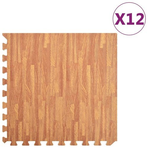 vidaXL Vloermatten 12 st 4,32 ㎡ EVA-schuim houtnerfprint