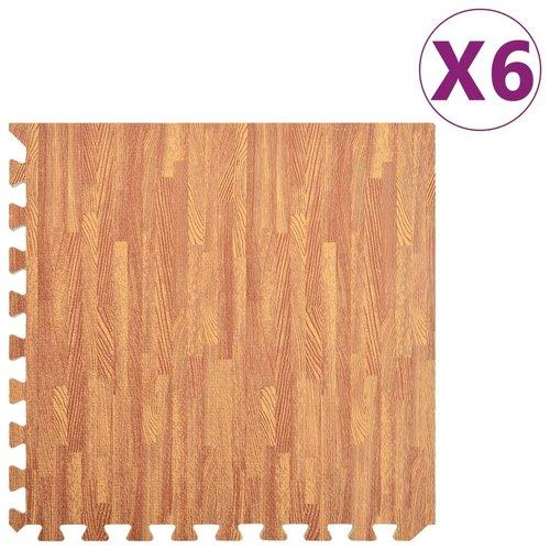 vidaXL Vloermatten 6 st 2,16 ㎡ EVA-schuim houtnerfprint