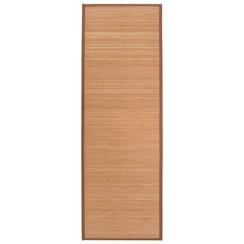 Yogamat 60x180 cm bamboe bruin