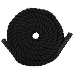Battle rope 12 m polyester zwart