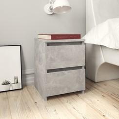 Nachtkastjes 2 st 30x30x40 cm spaanplaat betongrijs