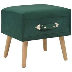 Nachtkastje 40x35x40 cm fluweel groen