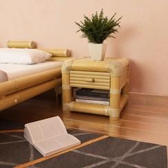 Nachtkastje 45x45x40 cm bamboe natuurlijk