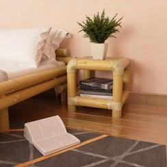 Nachtkastje 40x40x40 cm bamboe natuurlijk