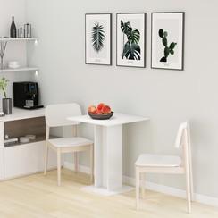 Bistrotafel 60x60x75 cm spaanplaat hoogglans wit