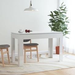 Eettafel 120x60x76 cm spaanplaat hoogglans wit