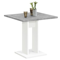 Eettafel 70 cm betongrijs en wit