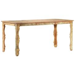 Eettafel 160x80x76 cm massief gerecycled hout