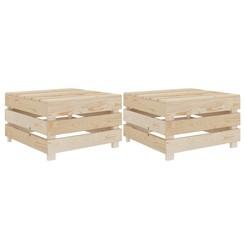 Tuintafels pallet 2 st hout