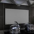 Spatscherm keuken 70x40 cm gehard glas wit