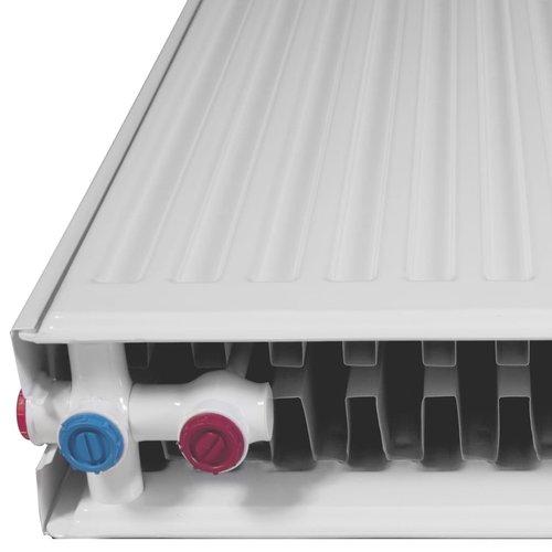 Convectorradiatoren met onderaansluitingen 8 st 120x10x60 cm
