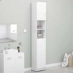 Badkamerkast 32x25,5x190 cm spaanplaat wit