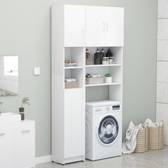Wasmachinekastenset spaanplaat wit