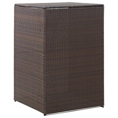 Containerberging enkel 76x78x120 cm poly rattan bruin