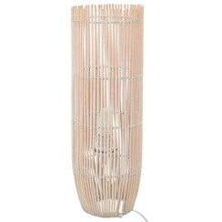 Vloerlamp E27 84 cm wilgen wit