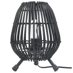 Tafellamp 60 W E27 20x27 cm wilgen zwart
