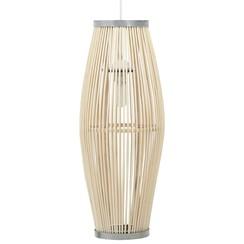 Hanglamp ovaal 40 W E27 21x50 cm wilgen wit