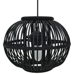 Hanglamp bol 40 W E27 30x22 cm wilgen zwart