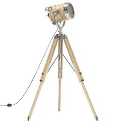 Vloerlamp driepoot 131 cm massief mangohout
