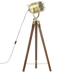 Vloerlamp driepoot 97 cm massief mangohout