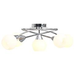 Plafondlamp met keramieken bolvormige kappen voor 5xE14 wit