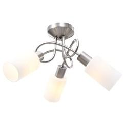 Plafondlamp met keramieke cilindervormige kappen 3xE14 wit
