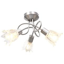 Plafondlamp met glazen tulpvormige kappen 3xE14 transparant