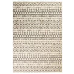 Vloerkleed modern traditioneel ontwerp 80x150 cm beige/grijs