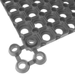 Matverbinders 10 stuks rubber zwart